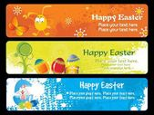 Banner for easter day — Stock Vector
