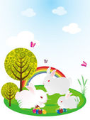 Wallpaper for easter day — Stockvector