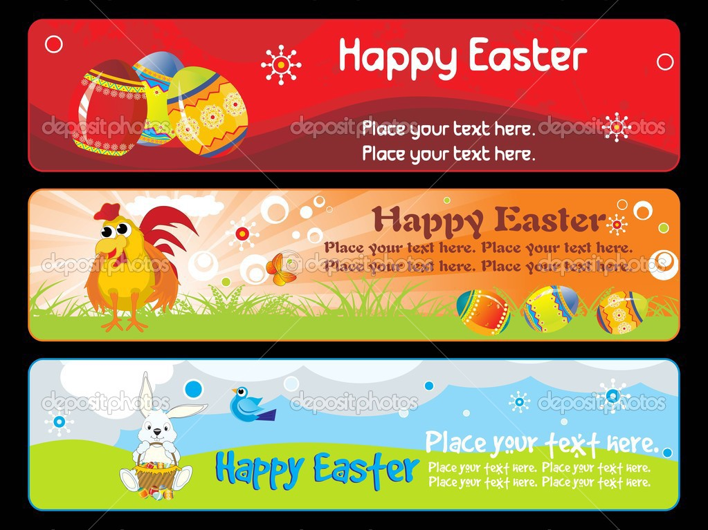 Illustration banner for happy easter day — Stock Vector #2905417