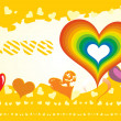 Royalty-Free Stock Vector Image: Yellow love card