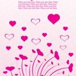 渦巻き図とピンクのデザイン — ストックベクタ