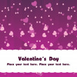 Purple love group background - Stockvektor