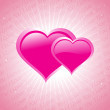 Royalty-Free Stock Vektorgrafik: Pink love background illustration