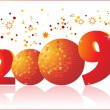 Vector de stock : New year 2009 greeting pattern, design6