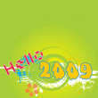 Vector de stock : New year 2009 banner, design30