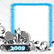 Vector de stock : New year 2009 banner, design36
