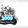 Vector de stock : New year 2009 banner, design43