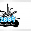 Vector de stock : New year 2009 banner, design44