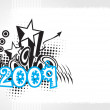 Vector de stock : New year 2009 banner, design50