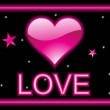 Background with pink heart - Stockvektor