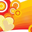 Abstract funky love background - Stockvektor