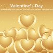 Royalty-Free Stock Vector Image: Lots of love with golden background