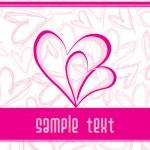 Illustration pink heart background — Stock Vector