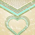 abstrait Saint Valentin carte illustration — Vecteur