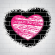 Love background with brick design — Imagens vectoriais em stock
