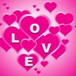 Pink valentine love background — Stockvectorbeeld
