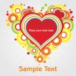 Abstract colorful love text — Stock Vector