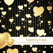 Black love design background — Imagen vectorial