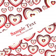 Red heart's collection banner - Image vectorielle