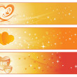 Abstract design love banner — Stock Vector