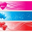 Beautiful romantic love banner — 图库矢量图片