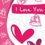Abstract design vetor love card — Stock Vector #2917137