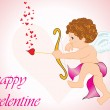 A cute cupid with love arrow - Stockvectorbeeld