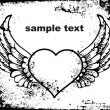 Abstract valentine with wings - Stockvektor
