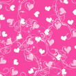 Royalty-Free Stock Vector Image: Valentine seamless background with heart