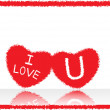 Love notes on white background - Stock Vector