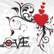 Vector illustration for valentine day - Image vectorielle