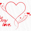 Vector de stock : Simple love design cards illustration