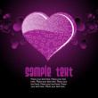 Purple color background with heart text — Stock Vector #2917931