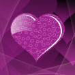 Stock Vector: Purple color valentine card