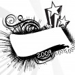Vector de stock : New year 2009 banner, design3