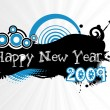 Stock Vector: New year 2009 banner, design2