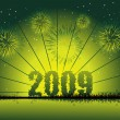 Vector de stock : New year 2009 greeting pattern, design5