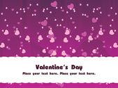 Purple love group background — Stock Vector