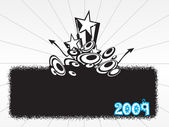 New year 2009 banner, design37 — Stockvektor