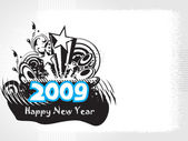 New year 2009 banner, design43 — Stockvektor