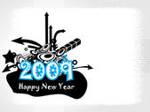 New year 2009 banner, design44 — Stock Vector