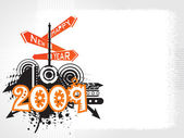 New year 2009 banner, design45 — Stockvektor