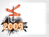 New year 2009 banner, design45 — Stock Vector