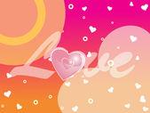 Mooie liefde achtergrond — Stockvector