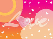 Beautiful love background — Stock Vector