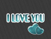 I love you background with set of heart — Stock Vector