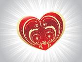 Cartolina di san valentino astratto — Vettoriale Stock