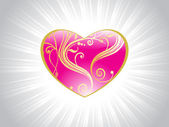 Härlig alla hjärtans-kort — Stockvektor