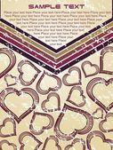 Alla hjärtans-kort med plats för text — Stockvektor