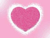 Abstraktní růžové srdce s pozadím — Stock vektor